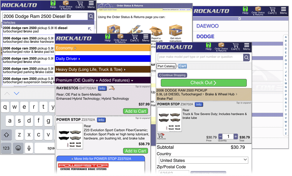 Rockauto Mobile App >> Rockauto Com Goes Mobile In Parts Misc For Sale Page 1 Of 1